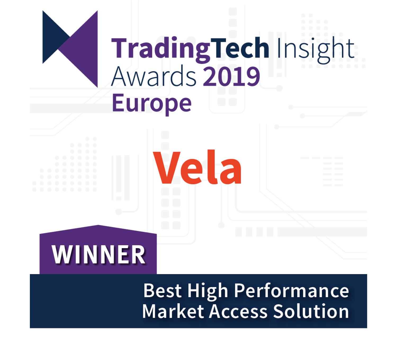 Vela wins A-Team TradingTech Insight Award