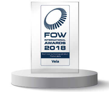Vela wins Best New Market Data Technology Product at FOW International Awards 2018