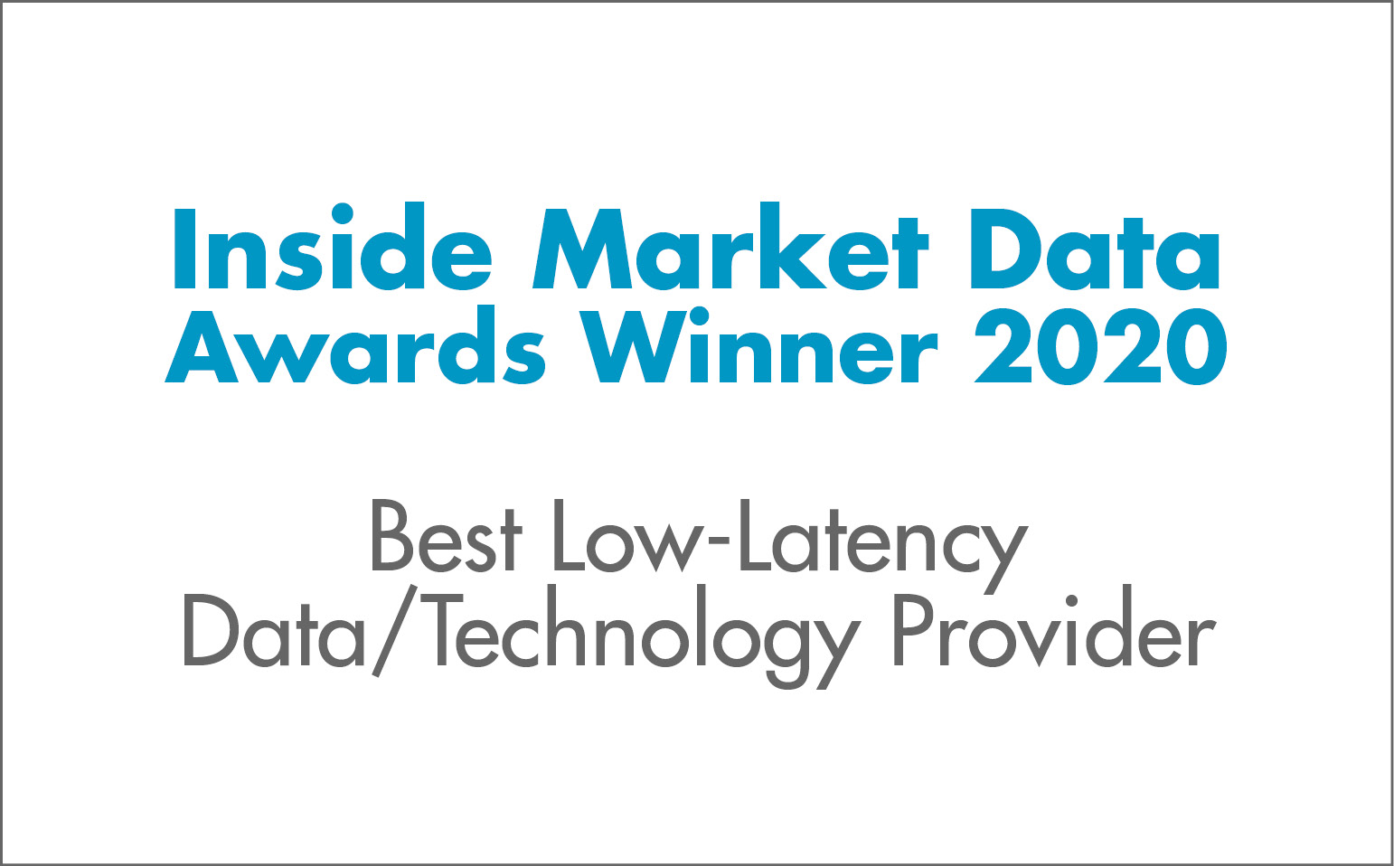 Best Low-Latency Data/Technology Provider