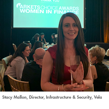 Stacy Mallon of Vela wins Women in Finance Award