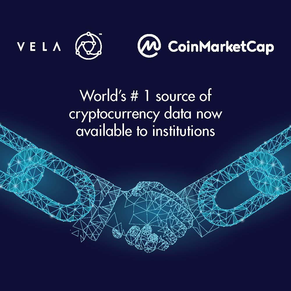 Vela partners with CoinMarketCap to include cryptocurrencies in SuperFeed