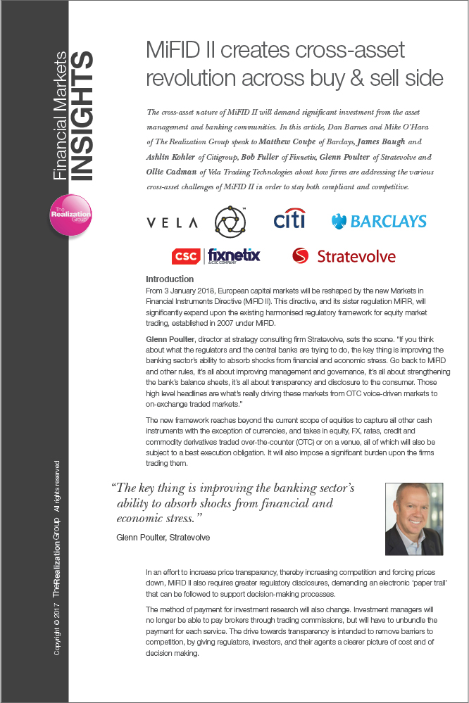 MiFID II Creates Cross-Asset Revolution Across Buy & Sell Side
