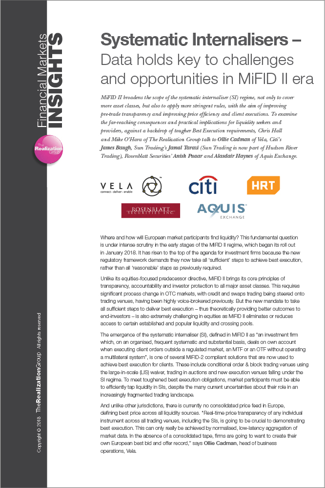 Systematic Internalisers: Data holds key to challenges and opportunities in MiFID II era
