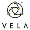 Vela logo stacked